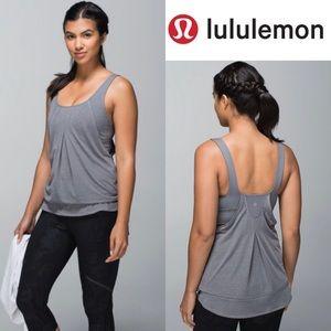 Lululemon Run Times Tank Heathered Slate / Slate